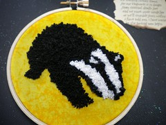Punch Needle Badger