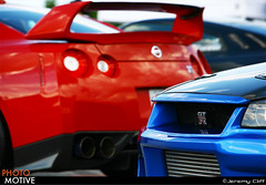 R34 & R35 @ RPM Car Show in Chicago (jeremycliff) Tags: blue red cliff chicago car canon japanese illinois nissan fast sigma jeremy event exotic modified tuner custom expensive import rare supercar rpm gtr r34 topspeed r35 jeremycliff myacreativecom photomotive myacreative thephotomotivecom