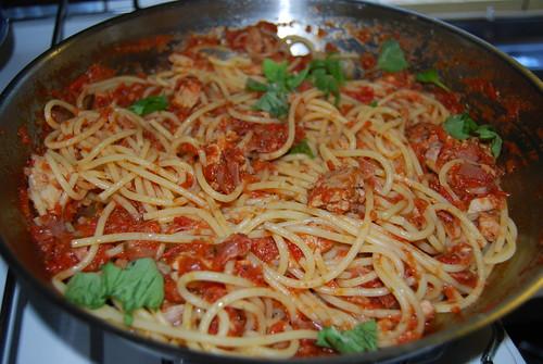 spaghetti tonijn