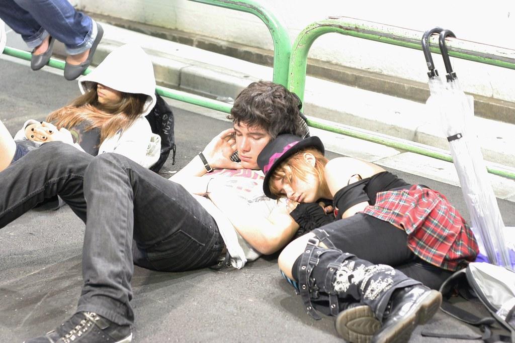 Akiba tourlist : sleeping people