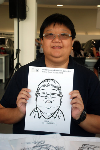Caricature live sketching for Performance Premium Selection BMW - Day 2 - 14a