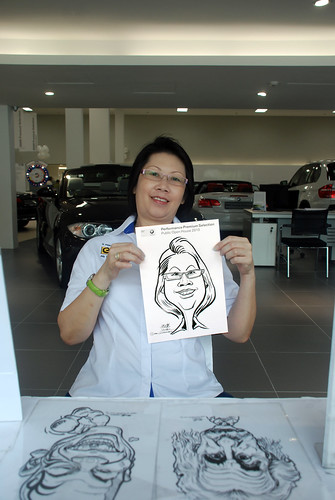 Caricature live sketching for Performance Premium Selection BMW - Day 3 - 2