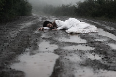 (GraceAdams) Tags: road rain puddle bride runaway