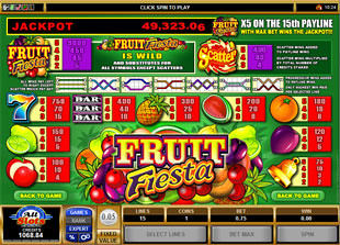 free Fruit Fiesta 5-Reels slot mini symbol