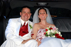 DSC_0480 (D.Clow - Maryland) Tags: wedding red summer smile smiling groom bride md married tie marriage maryland limo tuxedo pasadena tux 2010 redtie whitetux glenburnie whitetuxedo