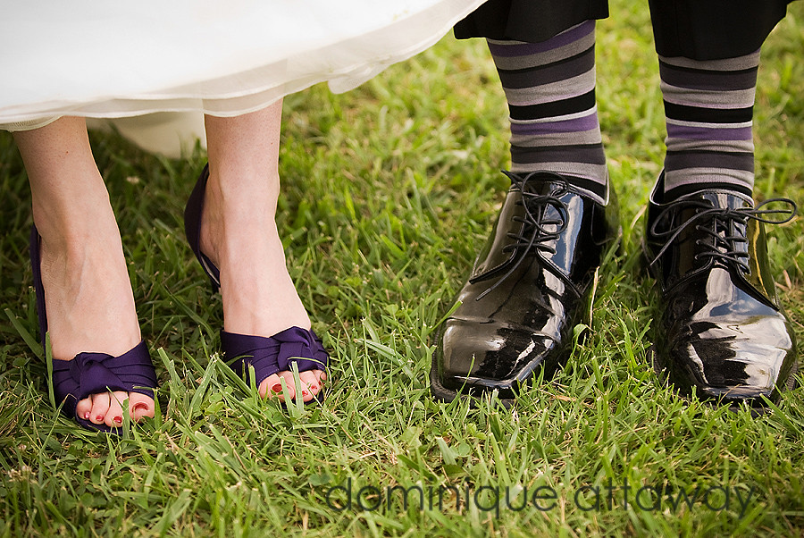 bride and grom shoes