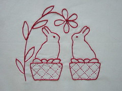 bunnies in baskets