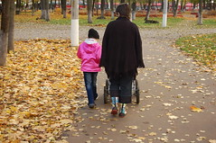 Walk. (odeku03(Children and others)) Tags: family autumn girls red people woman white color cute love girl beautiful beauty smile face childhood smiling fashion loving kids female hair mom fun person togetherness eyes women day child looking friendship bright little expression walk small joy daughter young mother happiness parent human blond littlegirl leisure toothy activity cheerful relaxation stroll dasha affectionate facial confidence caucasian lifestyles familygetty2010 gettyimagesrussiaq2