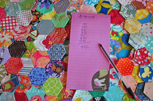 Hexagon Charm Quilt :: Progress