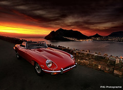 Jaguar E-Type (PHG photography) Tags: auto africa red sun beautiful beauty sport set photography und south awesome photograph passion motor editing jaguar philipp etype kapstadt grossmann phg