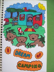 Doodle Day 5 (periwinklepenguins) Tags: camping fun bears journal doodle challenge idream schmoodle