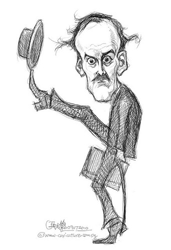 digital caricature of John Cleese - 1 small