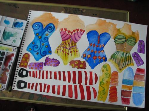 watercolor dolls