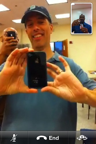 First Time with FaceTime with Wayne Sutton