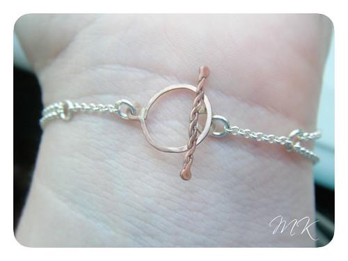 Andesine Labradorite Riveted Bracelet 10