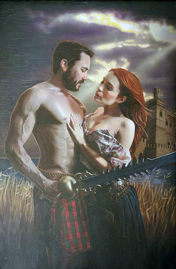 'As his kilt rises.' Felicia Day and Wil Wheaton as Codex and Fawkes in The Guild. By Greg Aronowitz.