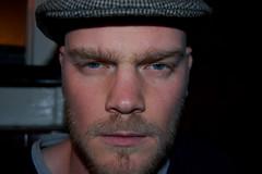 Ben looking quite scary (mrlerone) Tags: birthday closeup pub celebration booze charleslamb