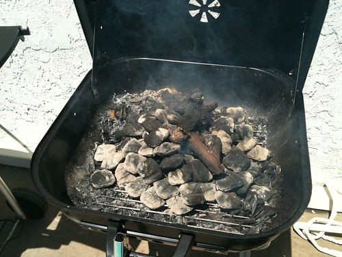 Jerk Chicken - Firing Up the Charcoal & Wood