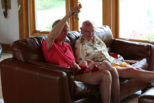 Granddad and Great-Granddad entertain Felicity