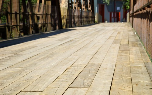 Wooden Flooring Along The Bridge