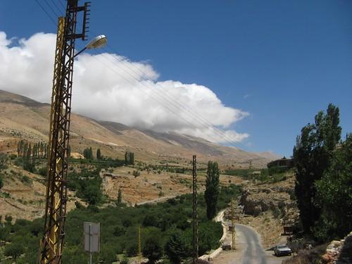 Estrada de Baalbek para Bcharre, Libano
