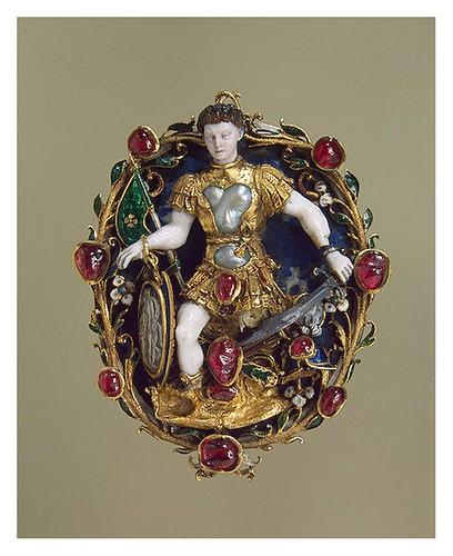 009-Colgante representando a Marte- Oro plata lapislázuli ópalo rubíes perlas-Francia. Mediados del siglo16-Copyright ©2003 State Hermitage Museum