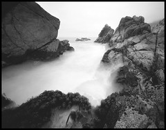 what is, was, and ever shall be (stormiticus) Tags: longexposure blackandwhite bw film centralcoast garrapata fp4 5x7 75mm canham caltar pyrocathd largeformatmeetupgroup