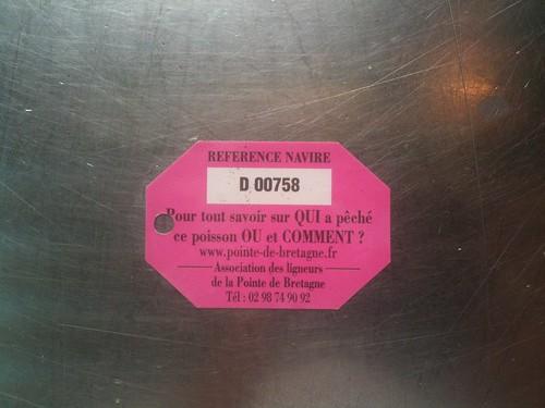 étiquette de dorade