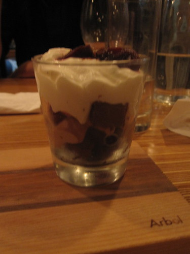 Black forest verrine at Au 3 petits bouchons