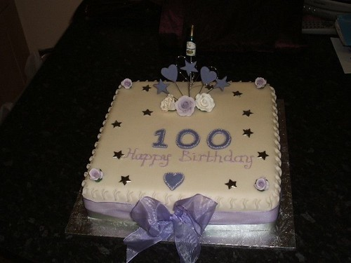 Birthday cakes celebration cakes debbie 39 s cake 39 ole for 100th birthday decoration ideas
