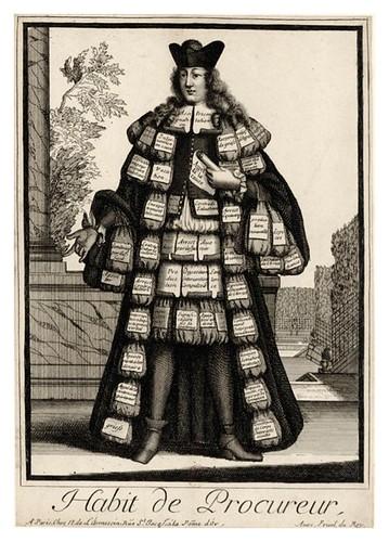 057-Vestimenta de procurador-Les Costumes Grotesques 1695-N. Larmessin-BNF