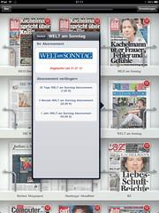 iKiosk (Apple iPad): Welt am Sonntag Abonnement