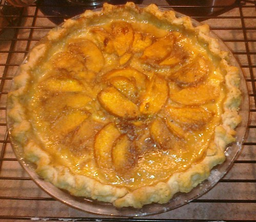 Peaches and cream kayak pie