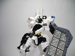 Rabid with shield (juecifer) Tags: robot lego mecha mech spacepolice