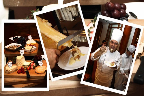 Chef Sandro Falbo‏ introducing the raclette cheese