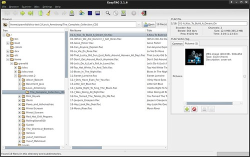 EasyTAG showing embedded album art