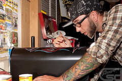 Pinstriping by Mike Campbell  - 4037 (Sam Dobbins) Tags: mike mailbox canon eos pin f14 14 ef50mmf14 5d 28 campbell 70200 f28 pinstripe pinstripes pinstriping striping f4l 70200l automotivephotography ef20mmf28 40d morethanmore wwwsdobbinscom samueldobbins2010 sdobbinsphotography2010 wwwsdobbinstumblrcom