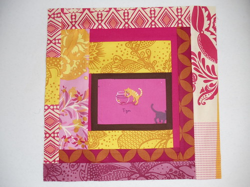 Fussy Cut Bee - August block for Becky