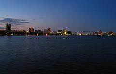 IMG_5198 (kz1000ps) Tags: city cambridge sunset urban tower boston skyline architecture skyscraper golden massachusetts charlesriver potd hour johnhancock prudential backbay memorialdrive