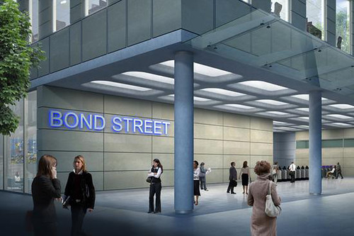 Artists impression Bond Street Tube eastern ticket hall