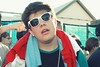 Sup. (itsjessie) Tags: show boy white cute beads kid cool concert eyes ray bright band shades shirts indie tee chill desaparecidos concertforequality
