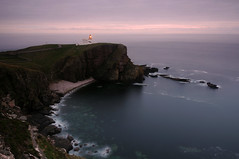 Stoer Head Lighthouse at dusk, Raffin (near Lochinver), Sutherland, Scotland (iancowe) Tags: lighthouse point scotland head scottish stevenson sutherland lochinver stoer wbnawgbsct