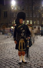 Clan March_019 (clarestruthers) Tags: night scotland edinburgh bagpiper clanmarch