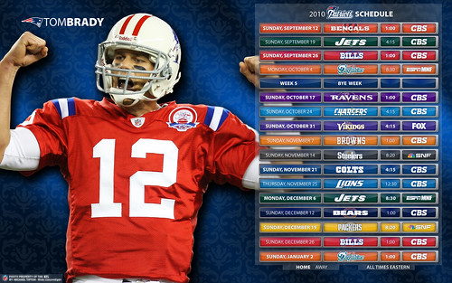 2010 New England Patriots Schedule