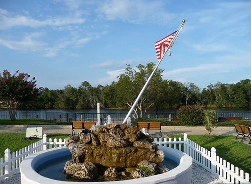 Veteran's Memorial Plaza overlooking Blackwater River