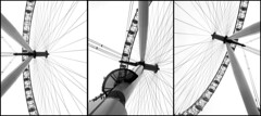 London Eye Triptych (Alistair Haimes) Tags: blackandwhite bw london eye canon triptych londoneye southbank s90 canons90 gettyimagesuklocation