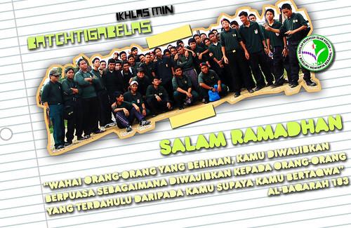 salam ramadhan from batchtigabelas