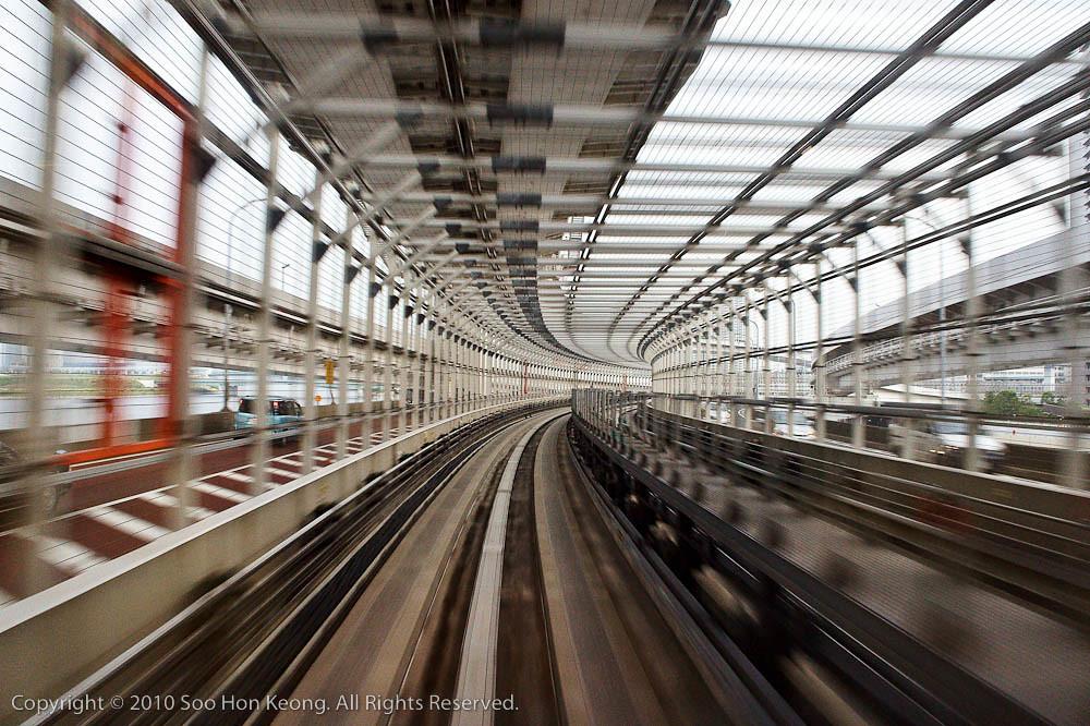 Monorail to Odaiba @ Tokyo, Japan