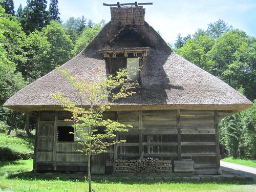 Thatched hip roof with shed dormer, Hida Folk Village, Hida Takayama