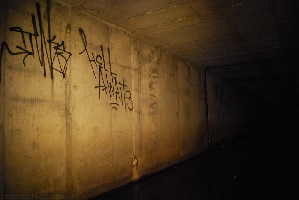 Tunks tunnel graffiti oakland east bay area california.